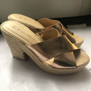 LFT Rose Gold Platform Sandals size 39 (9)